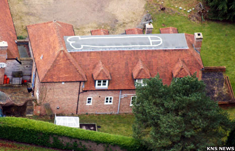 An 18-year-old has secretly painted a 60ft drawing of a phallus on the roof of his parents' £1million mansion in Berkshire. It was there for a year before his parents found out. They say he'll have to scrub it off when he gets back from travelling.